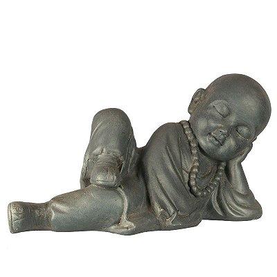 Estátua Monge Budista 40cm | Fibrocimento