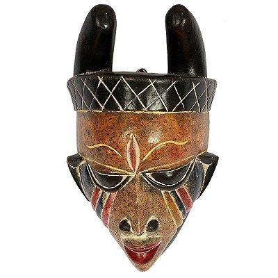 Máscara Africana em Madeira 36cm