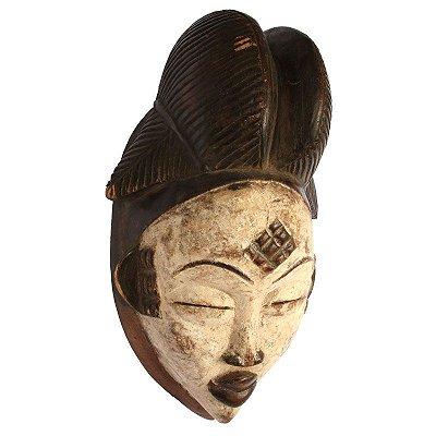 Máscara Africana em Madeira 37cm