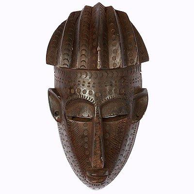 Máscara Africana em Madeira 35cm