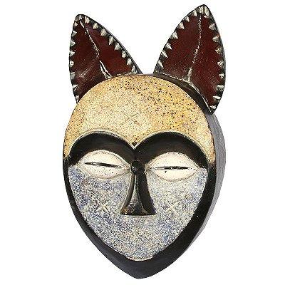 Máscara Africana em Madeira 43cm