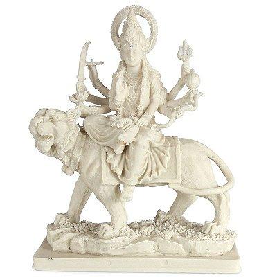 Escultura Durga em Marmorite 21cm