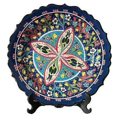 Prato Turco em Cerâmica 30cm - Arte Decorativa