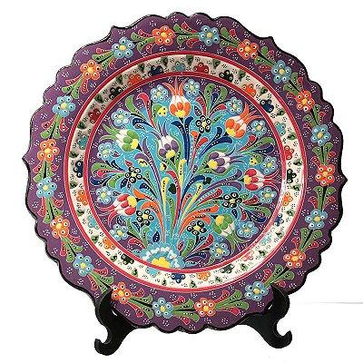 Prato Decorativo de Porcelana 30cm - Arte Turca