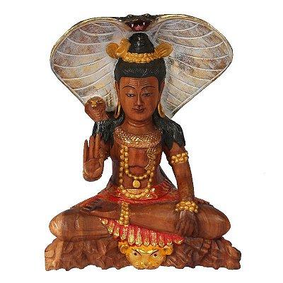 Escultura Shiva em Madeira 40cm | Bali