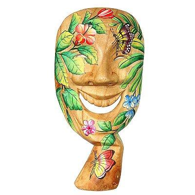 Máscara Teatro Grego Sorridente | Bali