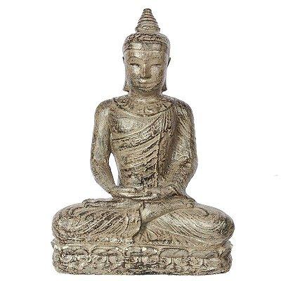 Estátua Buda em Cimento 30cm | Bali