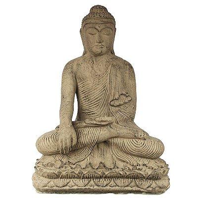 Escultura Buda em Cimento 40cm | Bali