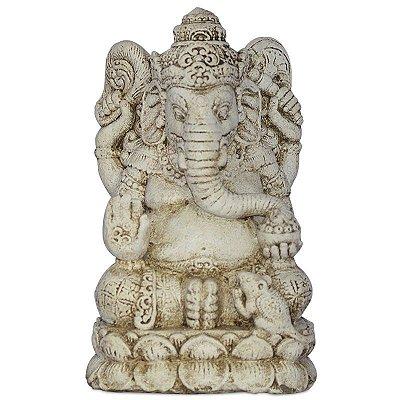 Escultura Ganesh em Cimento 35cm | Bali