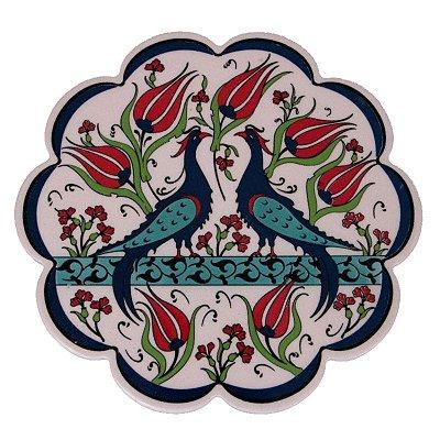Descanso de Panela Pássaros em Cerâmica Turca