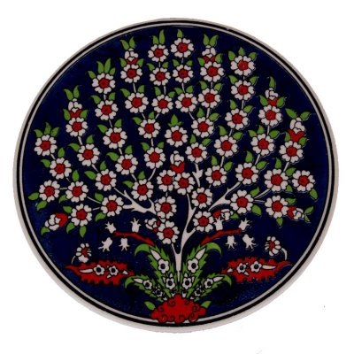 Descanso p/ Panela ''Árvore'' em Cerâmica Turca