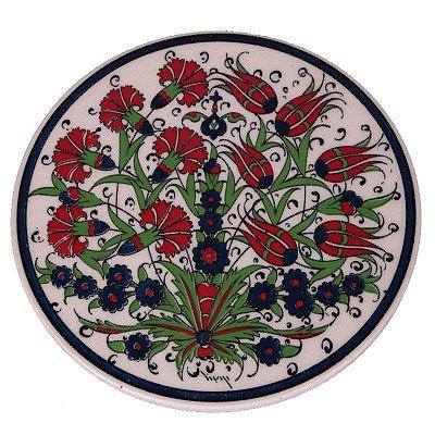 Descanso de Panela em Cerâmica Floral | Turquia