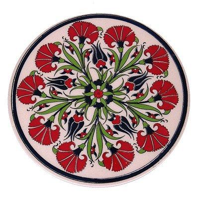 Descanso p/ Panela Mandala em Cerâmica Turca