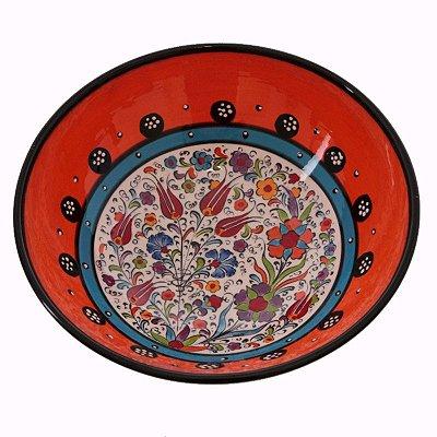 Tigela Turca em Cerâmica 21cm | Vermelho