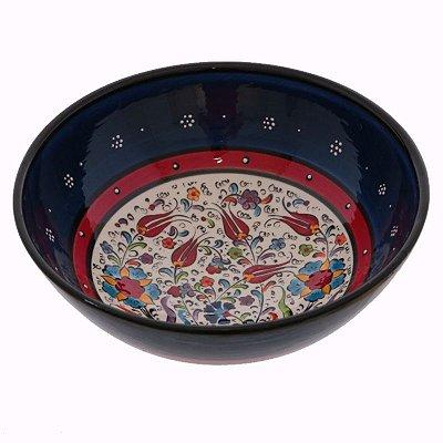 Tigela Turca em Cerâmica 21cm | Azul