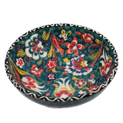 Tigela Turca em Cerâmica Relevo 16cm   Verde