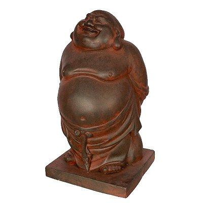 Escultura Buda Feliz 44cm | Fibrocimento