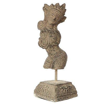 Escultura Dewi em Cimento 45cm | Bali