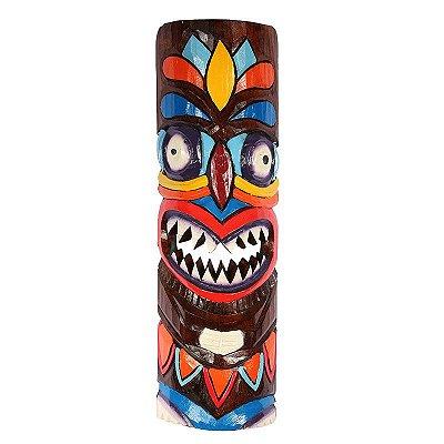 Máscara Havaiana Tiki Totem Color 50cm