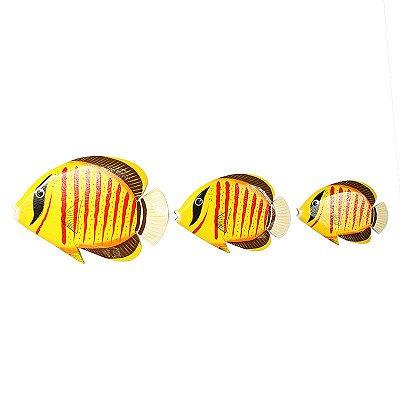 Trio Peixes Amarelos Decorativos | Bali