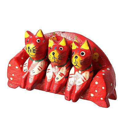 Trio Gatos Vermelhos no Sofá   Bali