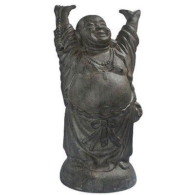 Escultura Happy Buddha 100cm | Preto