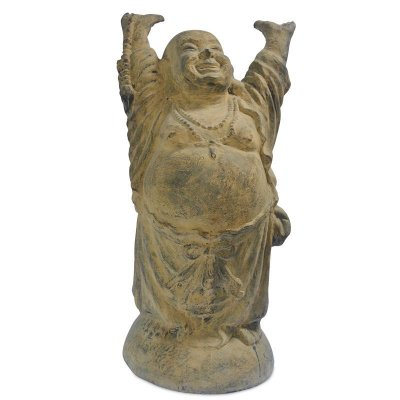 Escultura Happy Buddha 100cm | Pátina