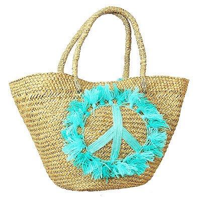Bolsa Fibra Natural Peace & Love | Bali