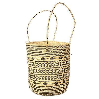 Bolsa Étnica de Fibra Natural | Bucket
