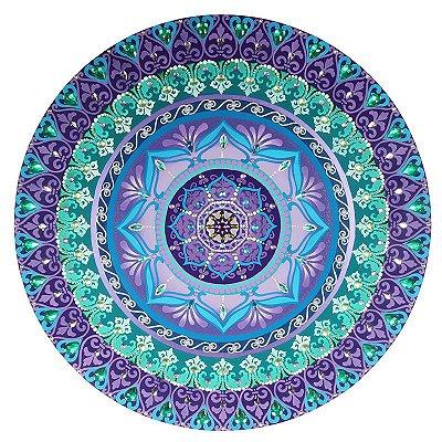 Mandala Flor de Lótus Azul e Roxa 60cm