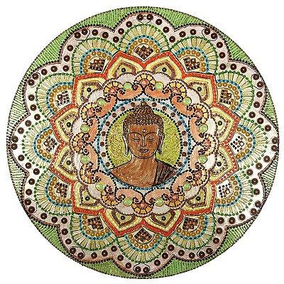 Mandala em MDF Buda Colorido | 36cm