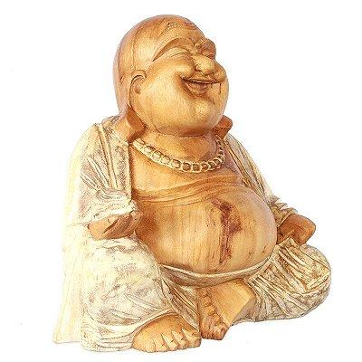 Escultura Happy Buddha 30cm | Pátina