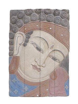Quadro Buda em Madeira 60x40cm - Bali