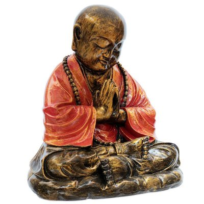Escultura de Buda Orando 30cm - Bali