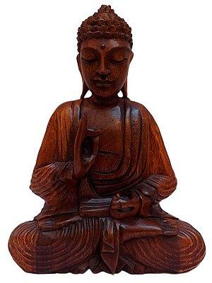 Escultura Buda Meditando 32cm - Bali