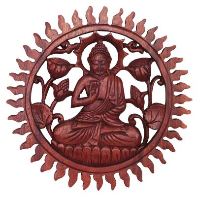 Mandala Buda em Madeira 30cm