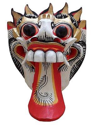 Máscaras Barong Bali em Madeira 20cm