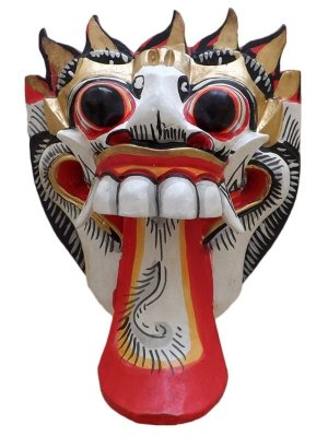 Máscaras Rangda Bali em Madeira 20cm