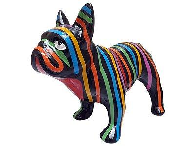 Escultura Bulldog Francês em Cerâmica