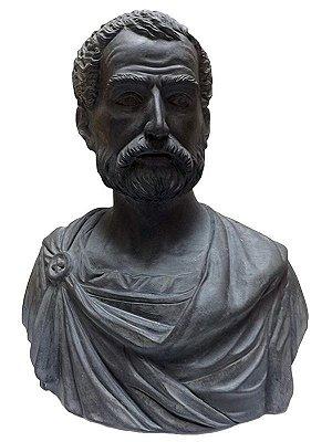 """Busto do Filósofo Grego """"Aristóteles"""""""