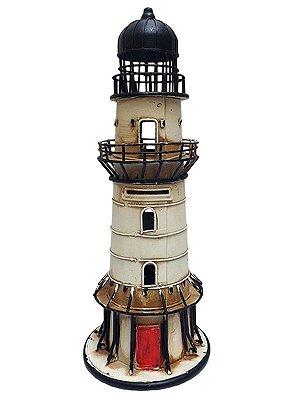 Cofre Miniatura de Farol Marítimo 31cm