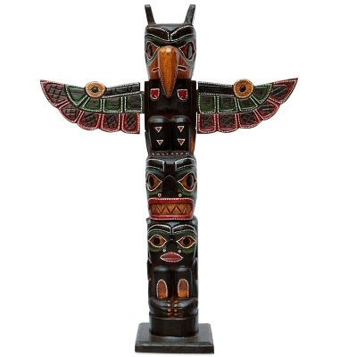 Escultura Totem Canadense Antik 60cm