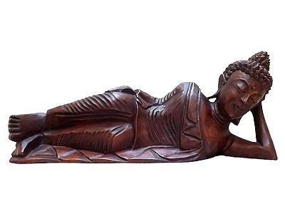 Escultura de Buda Deitado 40cm - Bali