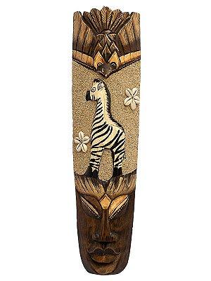 Máscara de Bali c/ Areia Jateada e Búzios 50cm - Zebra