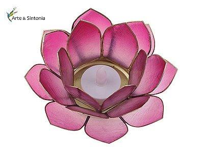 Porta-Velas Flor em Madrepérola + Vela LED