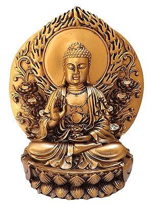 Escultura Buda Gold 17cm