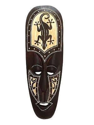 Máscara Lombok em Madeira p/ Decoração de Paredes 50cm