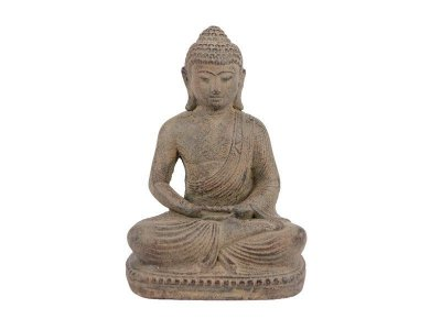 Escultura Buda em Pedra 22cm - Bali