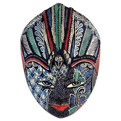 Máscara Batik em Madeira 18cm - Bali