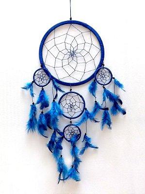 Apanhador de Sonhos (Dream Catcher) Azul 63cm